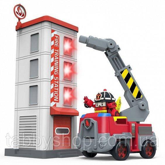 Пожарная станция Robocar Poli с фигуркой Рой