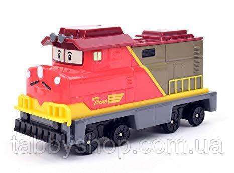 Металлический паровоз Robocar Poli Трино