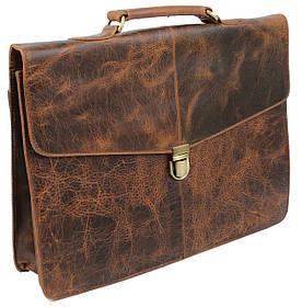 Винтажный кожаный портфель Always Wild Portfolio коричневый
