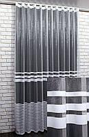 Тюль фатин полосы, цвет белый. Код 725т