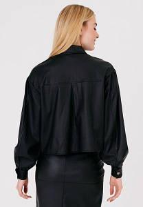 Укороченная Куртка С Клапанами Матовой Кожаной Фактуры - 550-Xs