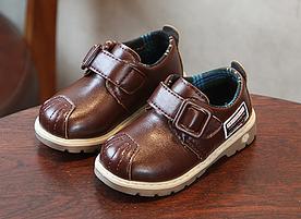 Туфлі дитячі PU-шкіра Frogprince коричневі