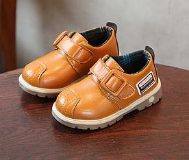 Туфли детские PU-кожа Frogprince оранжевые