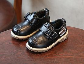 Туфлі дитячі PU-шкіра Frogprince чорні 22