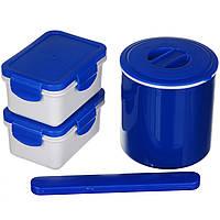 Ланч бокс з термосом A-PLUS 0.5 л (1670) Синій