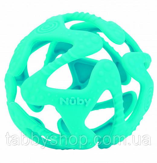 Прорезыватель NUBY Силиконовый мячик (бирюзовый)