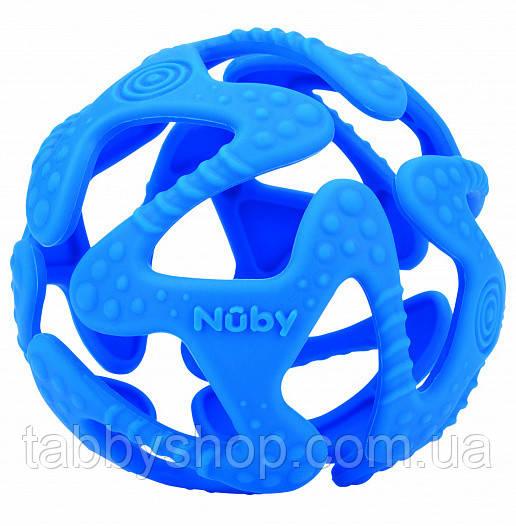 Прорізувач NUBY Силіконовий м'ячик (синій)