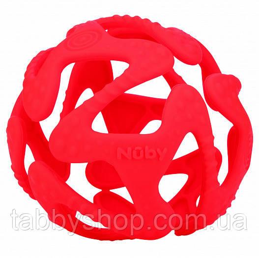 Прорезыватель NUBY Силиконовый мячик (красный)
