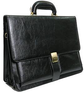 Портфель деловой из искусственной кожи 4U CAVALDI черный