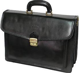Чоловічий портфель зі шкіри Rovicky AWR-3 чорний