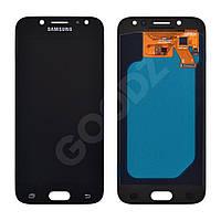 """Дисплей для Samsung J530F/DS Galaxy J5 (2017) с тачскрином в сборе, цвет черный, OLED, 5"""""""