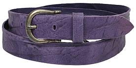 Жіночий шкіряний ремінь, Vanzetti, Німеччина, 100063 фіолетовий, 3х112 см