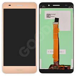 Дисплей Huawei Honor 5A (CAM-AL00), Y6 II (CAM-L21) з тачскріном в зборі, колір золотий