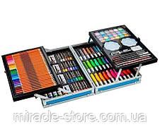 Набір для малювання та творчості в металевому кейсі 140 предметів два яруси, фото 3