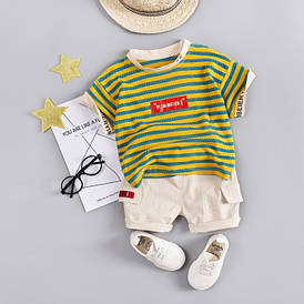 Літній костюм для хлопчика Yi Saibeier жовтий 3209 90
