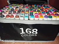 Скетч маркеры Touch Raven двусторонние для бумаги набор 168 шт,скетч маркеры для скетчинга