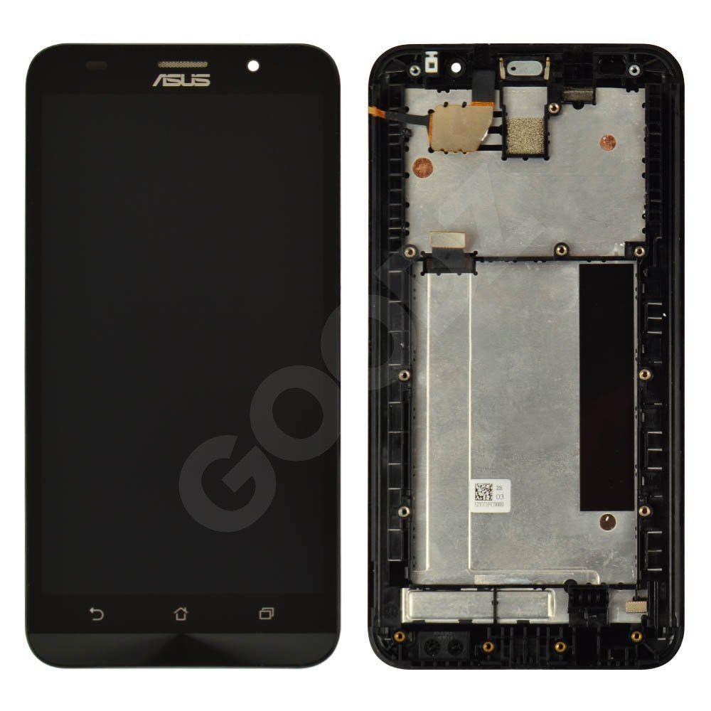 Дисплей для Asus ZenFone 2 (ZE551ML) c тачскріном і рамкою в зборі, колір чорний