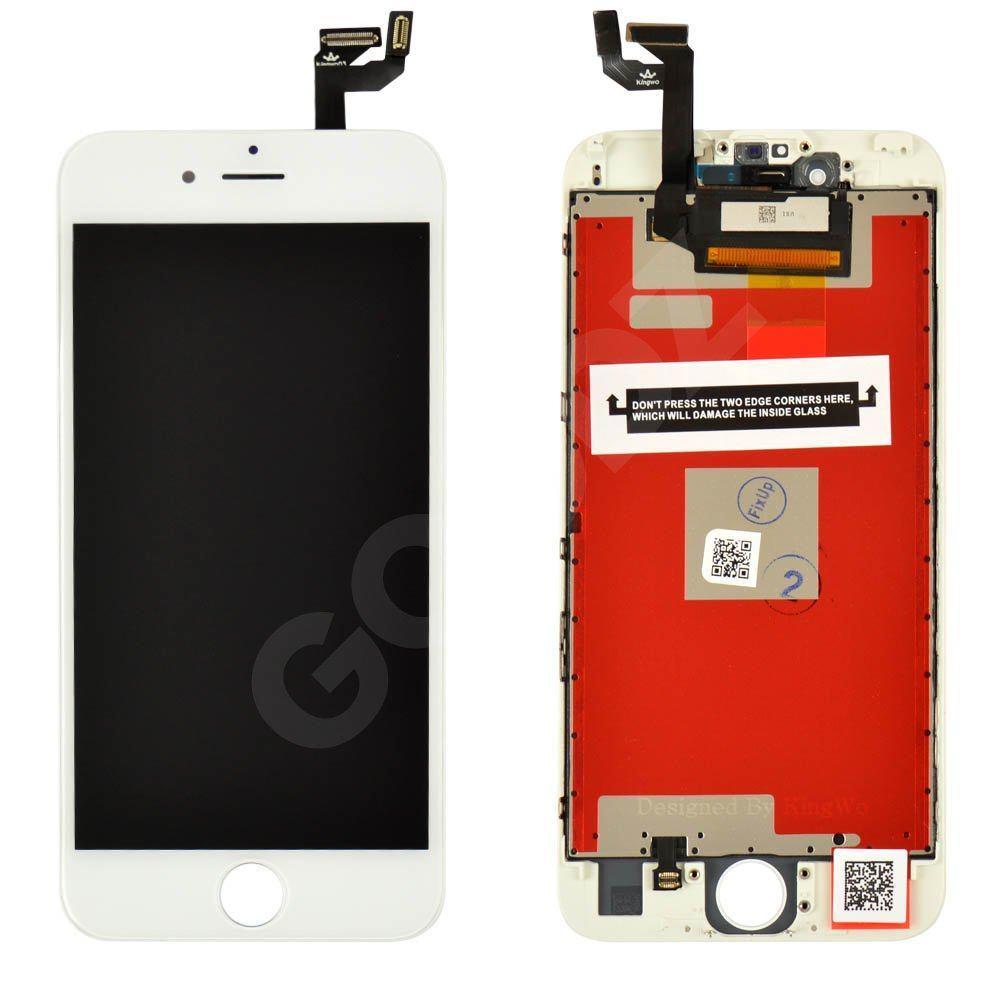 Дисплей для iPhone 6S (4.7) с тачскрином в сборе, цвет белый, копия высокого качества Kingwo