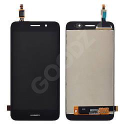 Дисплей Huawei Y3, Y5 Lite 2017 (CRO-U00, CRO-L02, CRO-L22), з тачскріном в зборі, колір чорний
