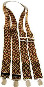 Подтяжки для брюк мужские KWM, Германия 110 на 3,6 см 990270