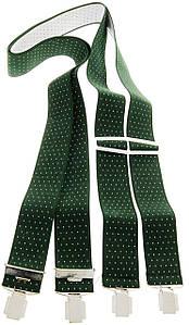 Подтяжки мужские зеленые KWM, Германия 110 на 3,6 см 990236