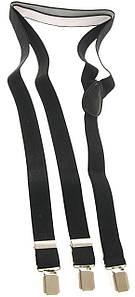 Подтяжки мужские черные KWM, Германия 110 на 2,5 см 220009