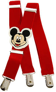 Підтяжки дитячі червоні KWM Mickey Mouse 60 на 2,5 см 880015