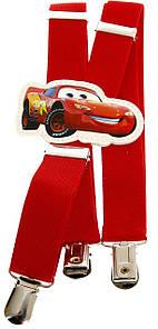 Подтяжки детские красные KWM Cars, Тачки 60 на 2,5 см