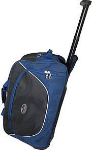 Сумка дорожная спортивная на колесах 57L Wallaby 10428 синий с чёрным