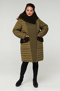 Пальто двубортное CR-902-KHA
