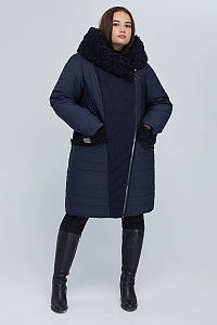 Пальто двубортное CR-902-BLU