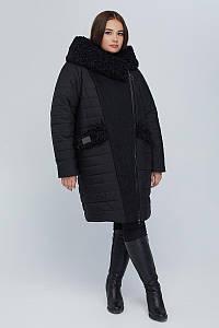 Пальто двубортное CR-902-BLK