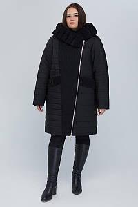 Двобортне пальто CR-10606-BLK