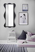 Настенное зеркало черное 1300х600 мм