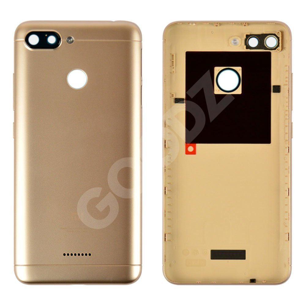 Задня кришка для Xiaomi Redmi 6, колір золотий