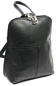 Жіночий рюкзак 4U Cavaldi чорний кожзам 6 л