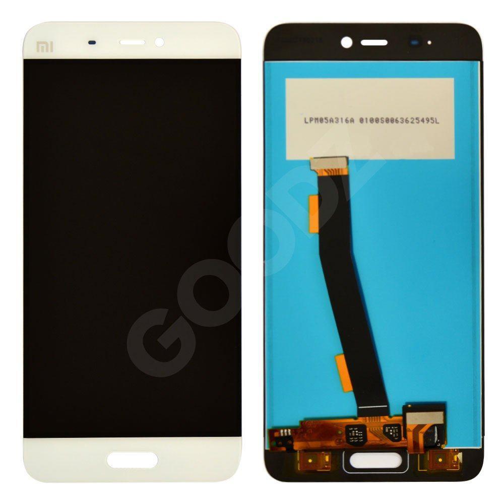 Дисплей для Xiaomi Mi5, Mi5 Pro с тачскрином в сборе, цвет белый, копия высокого качества