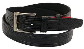 Чоловічий шкіряний ремінь під штани Skipper 1000-35 чорний ДхШ: 127х3,5 див.