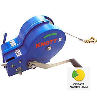 ✅Лебедка ручная KNOTT (Autoflex) 450 кг (с тросом),