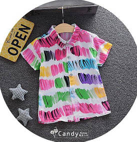 Тениска для мальчиков цветная 7906