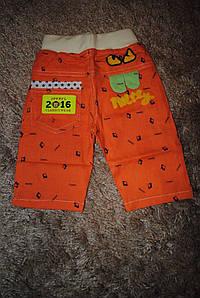 Бриджи для мальчиков оранжевые 6548
