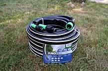 Шланг садовий Tecnotubi Euro Guip Black для поливу діаметр 3/4 дюйма, довжина 25 м (EGB 3/4 25), фото 3