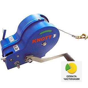 ✅Лебедка ручная KNOTT (Autoflex) 900 кг (с тросом),