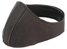 Автопятка кожаная для женской обуви темно коричневая