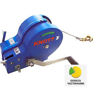 ✅Лебедка ручная KNOTT (Autoflex) 1150 кг (с тросом),
