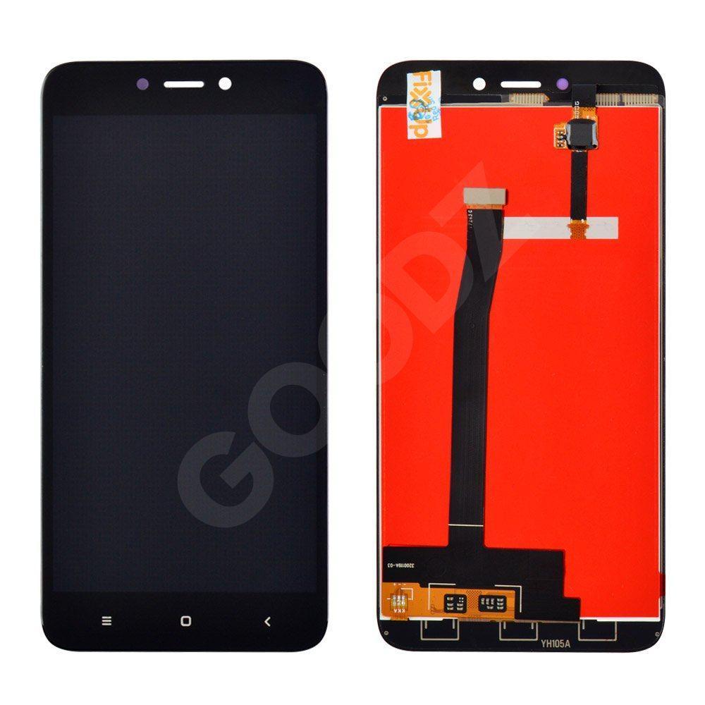 Дисплей Xiaomi Redmi 4X з тачскріном в зборі, колір чорний, копія високої якості