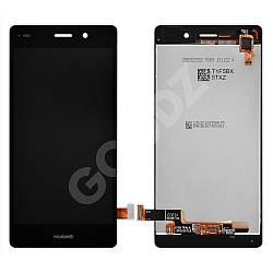 Дисплей Huawei P8 Lite (ALE L21, L20, L22) з тачскріном в зборі, колір чорний