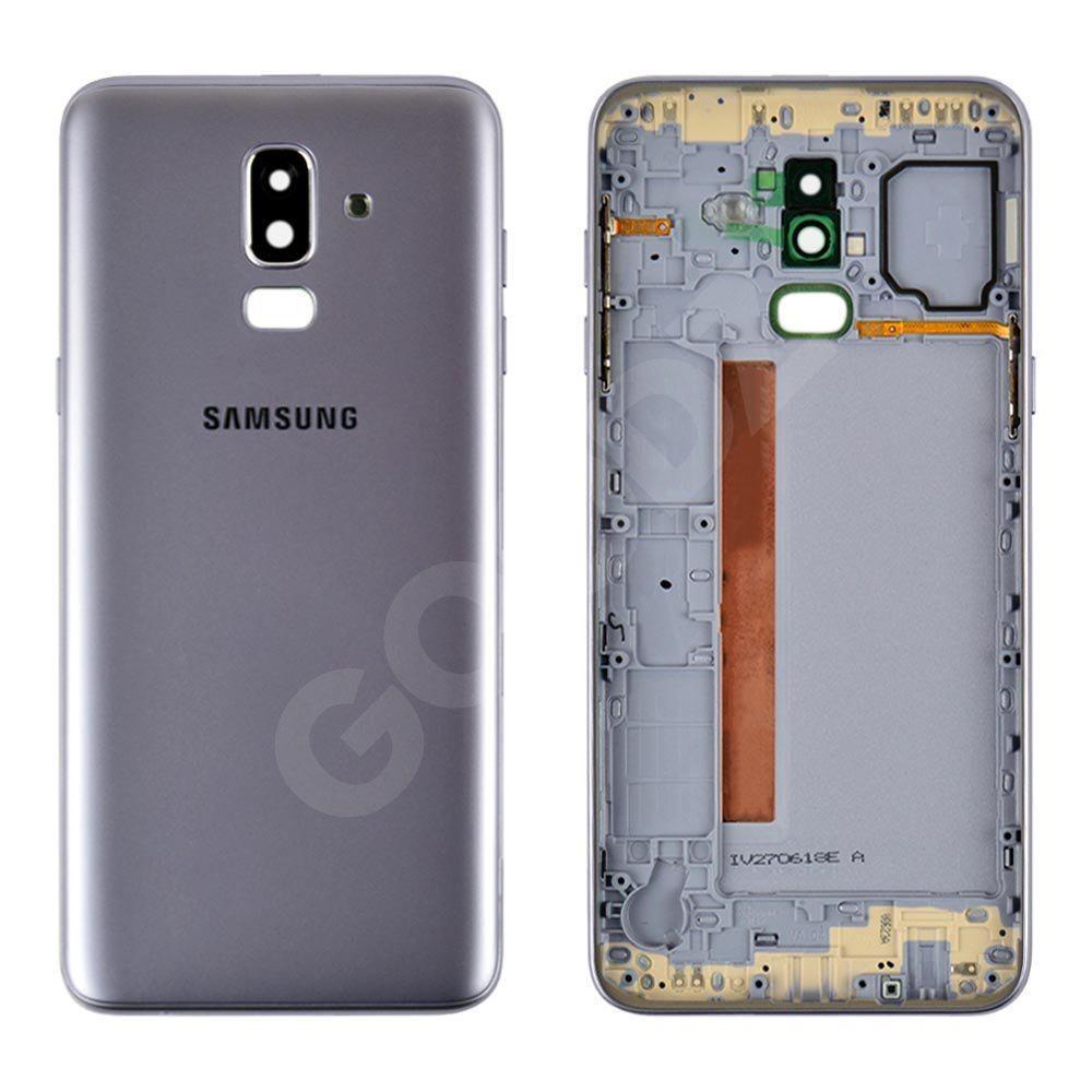 Задняя крышка для Samsung J810F Galaxy J8 (2018), цвет серебро