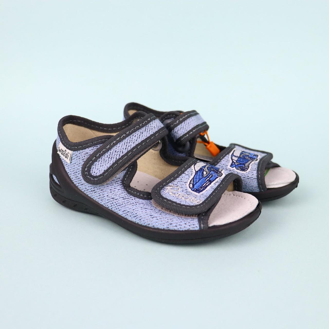 Текстильна взуття для хлопчика Адам синій тм Waldi розмір 23,24,27,29,30