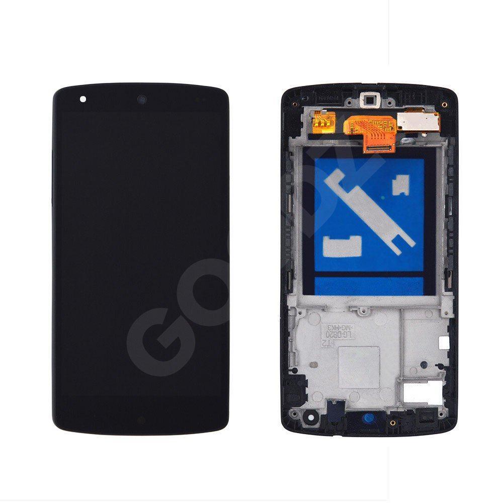 Дисплей LG Google Nexus 5 D821 (D820, D822) з тачскріном в зборі, колір чорний, в рамці